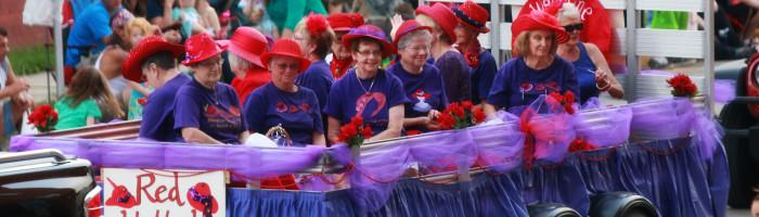 Red Hat Ladies in Knox Horsethief Days Parade