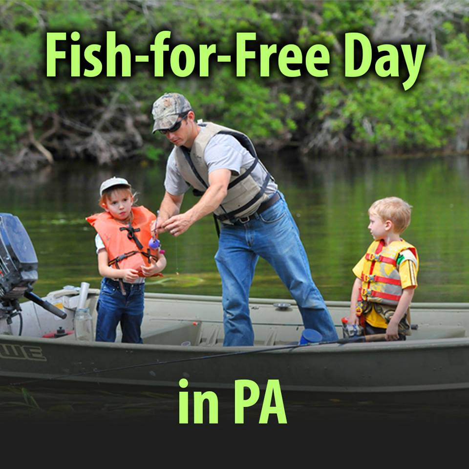 Fish for free day in pennsylvania knox area information for Pa fishing seasons and limits 2017